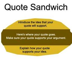 quote sandwiches | & Analysis Quote integration, Citation, and the ...