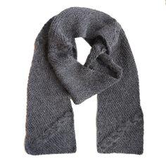 Palmikkoneulekaulaliina Novita Alpaca Wool | Novita knits