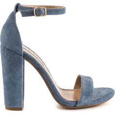 Steve Madden Women's Carrson - Blue Suede ($90) ❤ liked on Polyvore featuring shoes, blue, leather upper shoes, blue color shoes, steve-madden shoes, steve madden footwear and blue shoes