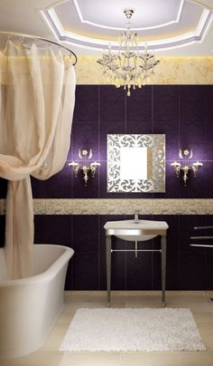 1000 images about purple gold bathroom on pinterest purple gold gray interior and luxury Purple and gold bathroom accessories