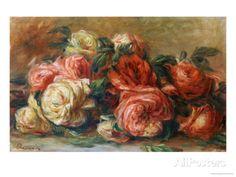 オールポスターズの ピエール=オーギュスト・ルノワール「Discarded Roses」高画質プリント