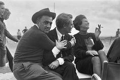 Fellini, Mastroianni, Loren. Quanto mi piace questa foto!!