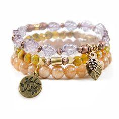 """""""Autumn Leaves"""" Set of Three Bracelets  $33"""
