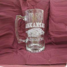 Official Licensed Arkansas Razorback Engraved by WoodWorks4You, $25.00