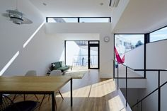 NN House is a minimalist home located in Tokyo, Japan, designed by Kozo Yamamoto. The single-family residence is located on a commercial strip within Tokyo. There are lax height restrictions within the area, therefore the buildings surrounding this space have varying elevations. (2)
