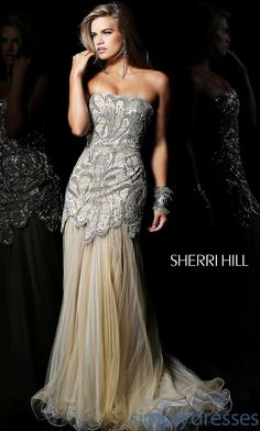 Buy 2013 Strapless Embellished Chiffon Evening/Celebrity/Pageant Dress Sh-21096