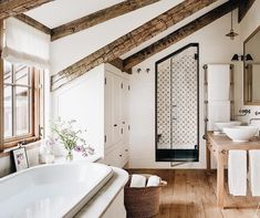 "184 Likes, 2 Comments - A-Frame Haus (@aframehaus) on Instagram: ""Finding inspiration for a master bathroom addition I'll be working on this year ✨ the vote was…"""