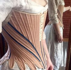 Isabel Northwode Costumes: HSF Practicality, or, The Stays are Finally Done 18th Century Stays, 18th Century Dress, 18th Century Costume, 18th Century Clothing, 18th Century Fashion, 14th Century, Corsets, Corset Costumes, Period Costumes