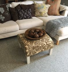 Bon DIY Ottoman Coffee Table Ikea Hack How To Turn A Plain Old End Table Into A