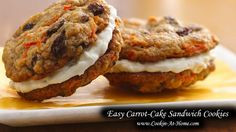 Easy Carrot-Cake Sandwich Cookies | Cooking at Home