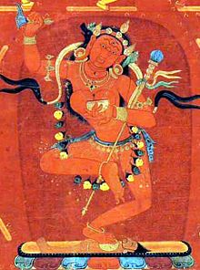 Vajravarahi/Dorje Pakmo Dorje Phagmo is the ecstatically fierce Dakini, whose head is surmounted by the head of a sow whose screech shatters illusion. The sound of the screech obliterates all concepts and sharply confides the direct meaning or ro-chig—the one taste of Emptiness and Form.