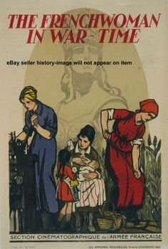 1917 FRENCH CINEMA BREASTFEEDING PROPAGANDA POSTER | eBay