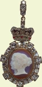 Princess Victoria's badge of the Order of Victoria and Albert (First Class). Returned to King George V on the death of his sister, Princess Victoria.