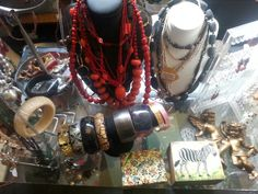 Brunswick Op-Shops- jewelry counter at Christ Church