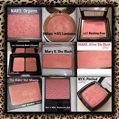 All dupes for Nars blush : orgasm