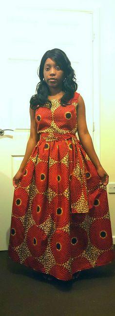 African print dress/ankara dress/UK size by TMFashionaccessories