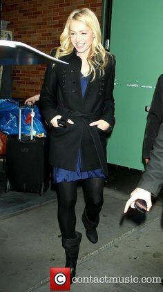 Portia de Rossi  leaving ABC studios after...