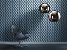 Wallpaper that looks like shiny metallic woven ribbons. From the Shiny Chic collection by Rasch, 745269. Available through Guthrie Bowron stores in New Zealand.