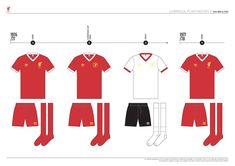 Liverpool FC Kit History, from 1892 to 2020 on Behance Liverpool Kit History, Liverpool Fc Kit, Behance, Football, Logo, Shape, Soccer, Futbol, Logos