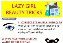EASY BEAUTY TRICKS FOR LAZY GIRLS