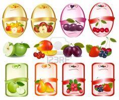 Find Set Labels Berries Fruit Vector Illustration stock images in HD and millions of other royalty-free stock photos, illustrations and vectors in the Shutterstock collection. Canning Labels, Jar Labels, Food Labels, Bottle Labels, Fruits Online, Label Image, Fruit Vector, Fruits Images, Fruit Stands