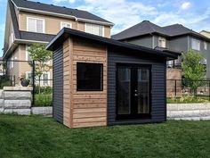 Artisan Shed Gallery - Summit Sheds, Ottawa custom shed builder Backyard Storage Sheds, Backyard Sheds, Outdoor Sheds, Backyard Patio, Backyard Landscaping, Studio Shed, Garden Studio, Garden Huts, Pool Shed