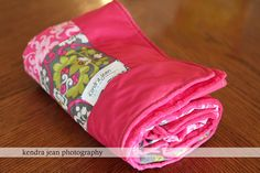 Pretty in Pink cotton with minky lightweight by KendraJeanDesigns