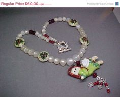 50% OFF Christmas Holiday Angel Lampwork by LEFIALYNNCREATIONS