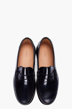A.P.C. Midnight Blue Leather Moccasin Loafers