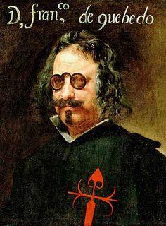 Portrait of Spanish poet, Quevedo, by  Diego Velázquez