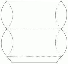 I took apart a pillow box to make a template of it as I wanted to make some myself, I've posted the template below for you. Pillow boxes are a great package for small pressies like jewellery. Pillow Box Template, Envelopes, Eid Cards, Paper Purse, Box Patterns, Altered Boxes, Diy Pillows, Keepsake Boxes, Diy Craft Projects