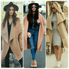 Camel Large Lapel Waterfall Open Front Jacket/Coat Chic Light Weight Camel Open Front Waterfall Jacket  Sizes Available: Large & XL....Comment below if you'd like to be notified when small & medium are restocked         No Trades Price Firm ✈✈Ships Same Or Next Day✈✈ Jackets & Coats Trench Coats