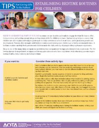 Establishing Healthy Bedtime Routines - AOTA (printer-friendly version)
