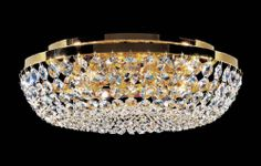 The Charlotte Flush Ceiling Light by Kolarz Lighting is available from Luxury Lighting. The Kolarz Charlotte Crystal Flush Ceiling Light is in a 24 carat gold plate dressed with Swarovski crystals.