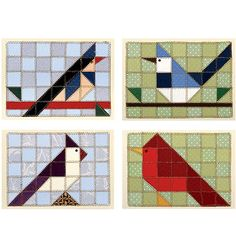 Birds Of A Feather.  These are paper quilts, but I think they'd be fabulous in fabric.