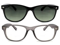 cb9290e28a Bifocal Reading Glasses and Bifocal Sunglasses for Men and Women 25 Gray    You can get