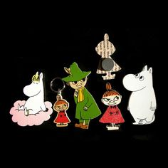 Moomin magnet set 4 This set includes the following characters: Moomintroll, Snufkin, Little My and Snorkmaiden.