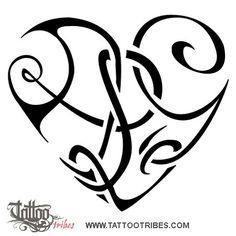Tatuaggio di Cuore A+L+G, Unione, affetto tattoo - custom tattoo designs on TattooTribes.com