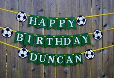Soccer Birthday Party Banner Sports Banner Soccer Party All Sports Themed Birthday Party, Football Birthday, Birthday Party Decorations, Sport Banner, Soccer Banner, Soccer Theme, Soccer Party, Happy Birthday Banners, Banner Ideas