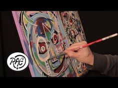 ABSTRACT Acrylic Painting SPEED ART Time Lapse by RAEART