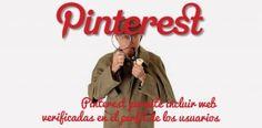 Pinterest permite incluir web verificadas en el perfil de los usuarios