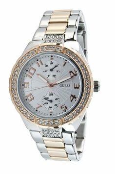 Guess Mini Prism Women's Rose Gold Plated Watch, Swarovski Crystal Set Bezel, Date Sub-Dials W15065L2 GUESS. $127.00. Guess Women Watch. Day Date Display. Crystals