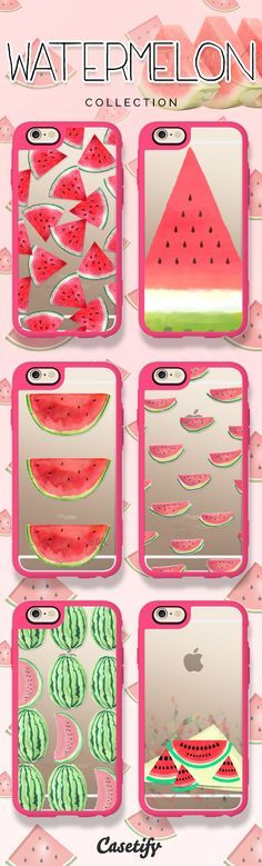 Don't let the seeds stop you from enjoying the watermelon. Take a look at these cases featuring watermelons on our site now! www.casetify.com/... | @Casetify