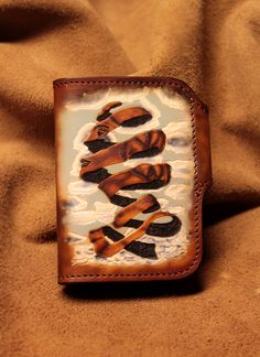 leather wallet painted