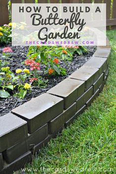 Get step by step instructions on how to build a butterfly garden or butterfly island in your backyard including what types of plants attract butterflies and what types of plants caterpillars like. This is the perfect family gardening activity. Landscape Design, Garden Design, Butterfly Garden Plants, Backyard Landscaping, Landscaping Ideas, Backyard Ideas, Landscaping Borders, Backyard Plants, Types Of Plants