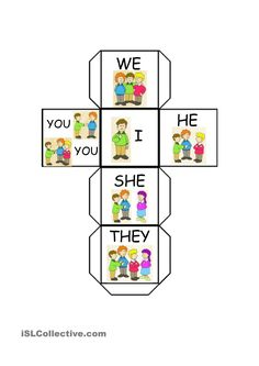 This is an interactive learning resource, that provides visual learning by providing pictures and the words. This teaches students subject pronouns and the difference between first person, second person and third person. English Pronouns, English Vocabulary, English Grammar, Teaching English, Pronoun Activities, Pronoun Worksheets, English Activities, Printable Worksheets, Teaching Pronouns
