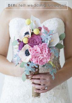 DIY Felt Wedding Bouquet by Jen Carreiro | Project | Papercraft | Felting / Decorative | Weddings | Kollabora