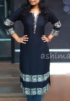 Neck and sleeve design African Fashion Dresses, Indian Dresses, Indian Outfits, Indian Fashion, Fashion Outfits, Salwar Designs, Kurta Designs Women, Dress Neck Designs, Blouse Designs