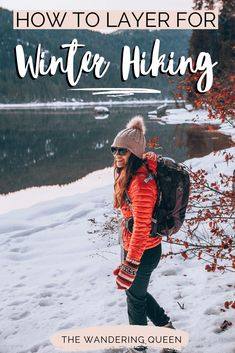 Winter Hiking Gear and Clothes - The Wandering Queen food gear meals tips Appalachian trail gear gear tips backpacking camping Hiking With Kids, Camping And Hiking, Ultralight Backpacking, Backpacking Food, Camping Gear, Camping Hacks, Baby Hiking, Camping Hammock, Camping Gadgets