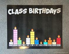 Use the Cricut in the Classroom Classroom Birthday Gifts, Preschool Birthday Board, Preschool Classroom Decor, Preschool Games, Kindergarten Classroom, Classroom Hacks, Student Birthdays, Student Gifts, Birthday Graph